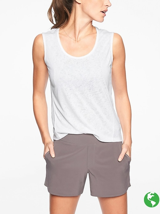 Athleta Breezy Muscle Bright White