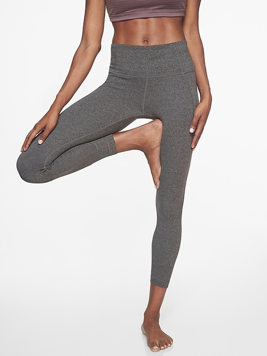 Athleta Salutation 7/8 Tights Black Heather 2