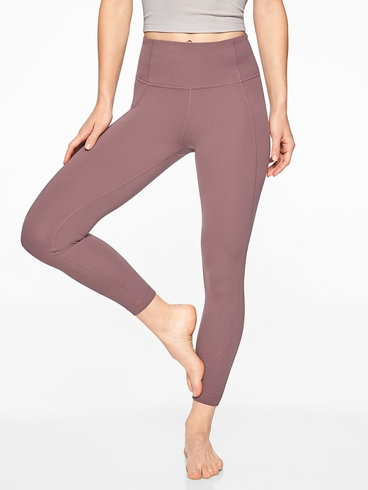 Athleta Salutation 7/8 Tights Dusty Plum