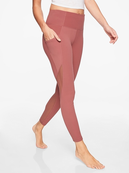 Athleta Salutation Pocket Tights Crushed Berry