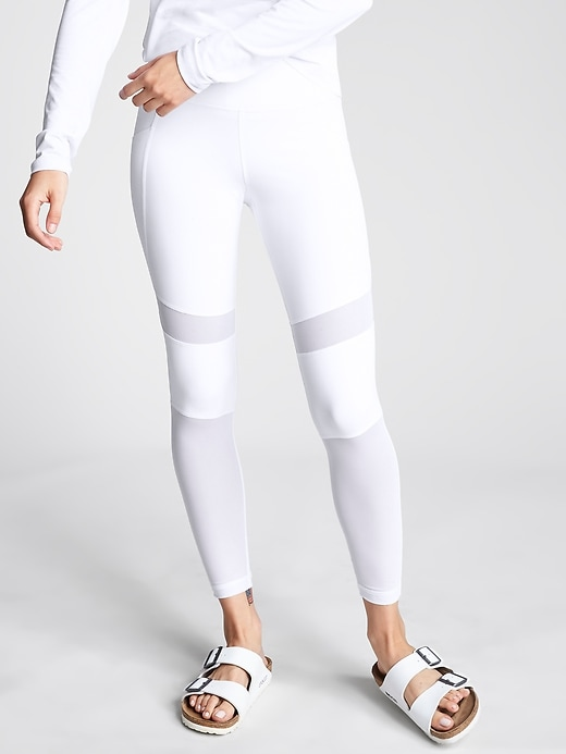 Athleta Meshblock Pocket Pura Tights White