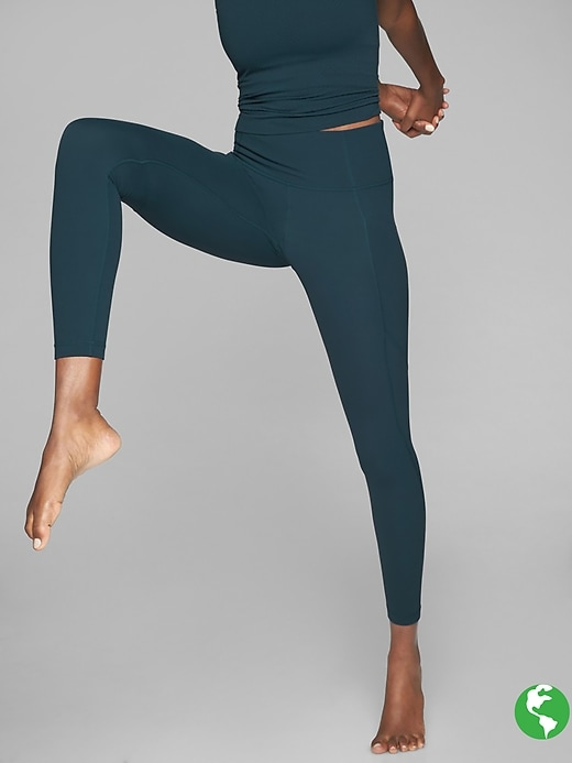 Athleta Stash Pocket Salutation Tights Abyss