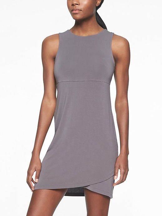 Athleta Womens La Palma Dress Silver Bells Size 2X