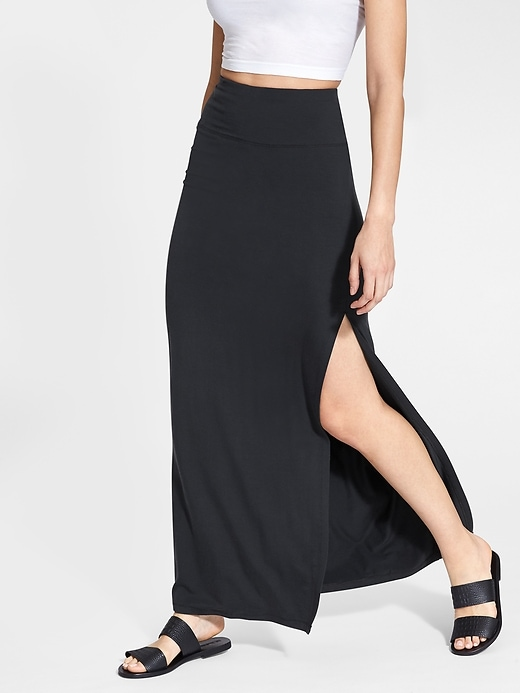 Athleta Womens Marina Maxi Skirt Black Size XS