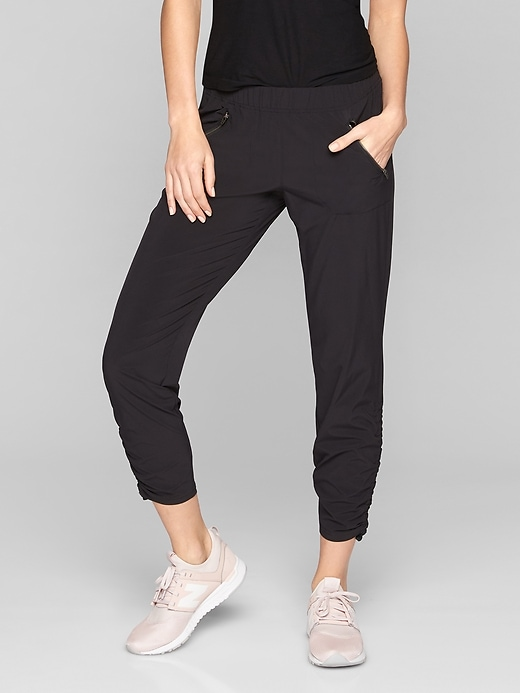 Athleta Womens Aspire Ankle Pant Black Size 8