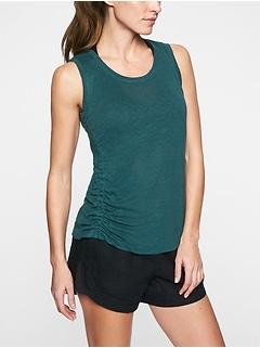 Linen Ruched Tank