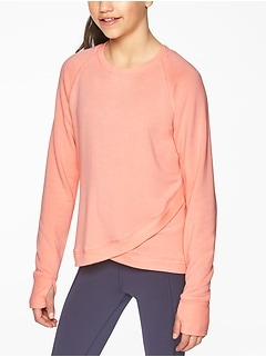 Athleta Girl Criss Cross My Heart Sweatshirt