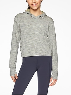 Athleta Girl Coaster Cropped Hoodie