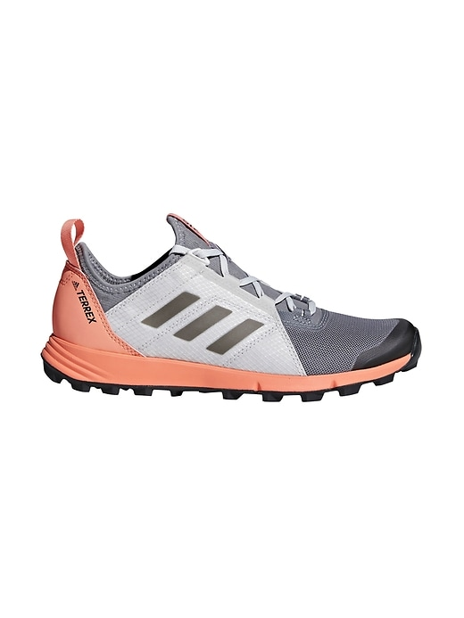 Athleta Womens Terrex Agravic Speed By Adidas® Grey Three/ Black/ Chalk Coral Size 8.5