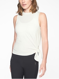 Cloudlight Asym Side Tie Tank