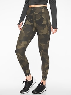 Run Free Camo 7/8 Tight