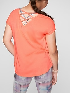 Athleta Girl Criss Cross Tee