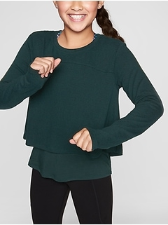 Athleta Girl Double Up Top