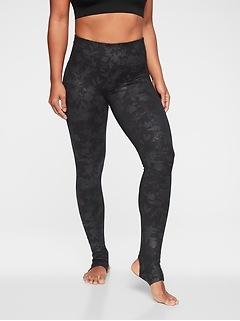 Barre Stirrup Midnight Garden Tight In Powervita