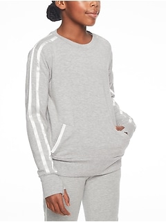Athleta Girl Silver Lining Sweatshirt