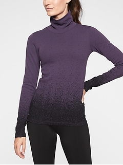 Flurry Base Layer Ombré Turtleneck