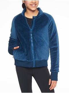 Athleta Girl Royal Plush Puffer