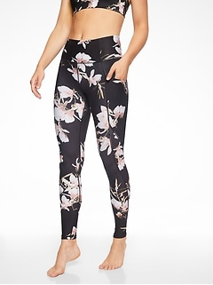 Stash Pocket Floral Salutation Tight In Powervita