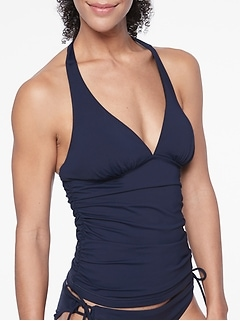 Shirred Halter Tankini