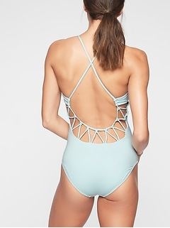 Loop Back One Piece Swimsuit