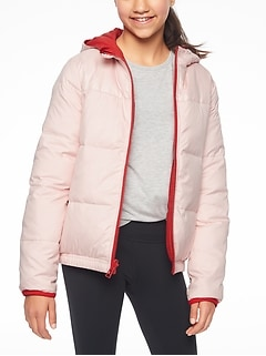 Athleta Girl Reversible Down Jacket