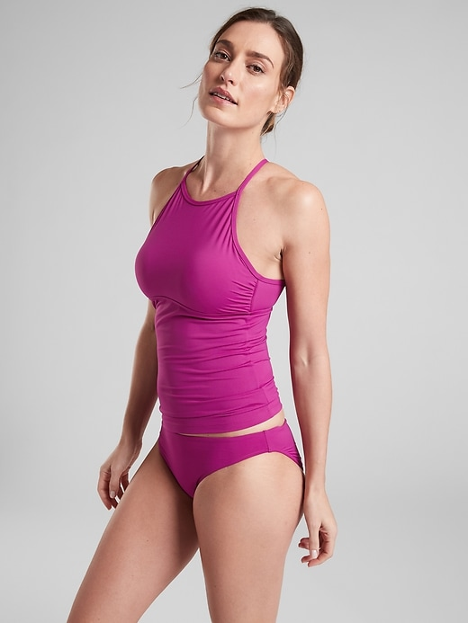 High Neck Tie Back Tankini