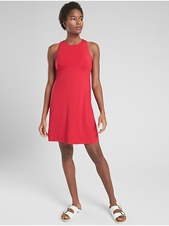 Santorini High Neck Solid Dress