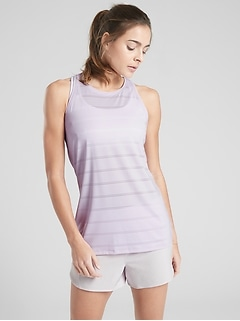 High Neck Chi Double Stripe Tank