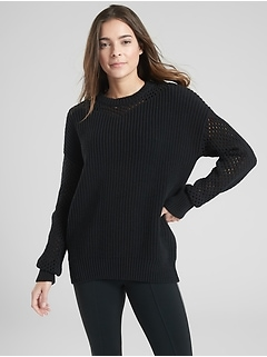 Mesh Volume Sleeve Sweater