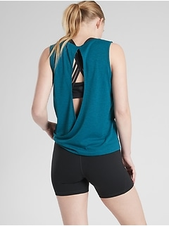 Jacquard Open Back Train Tank