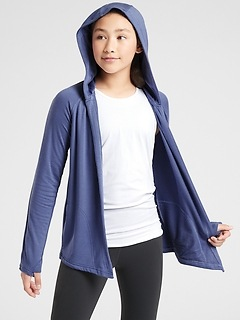 Athleta Girl Got You Covered Wrap Hoodie