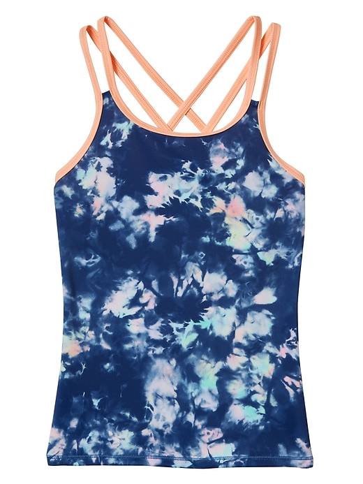 Athleta Girl Tide Dye Tankini Top