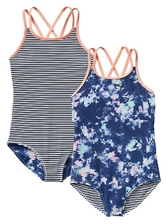 Athleta Girl Tide Dye Reversible One Piece