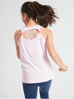 Athleta Girl Reversible Twistful Thinking Tank