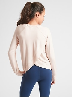 Athleta Girl Cross Your Fingers Sweatshirt