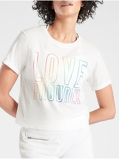 Love Proudly Graphic Crop Tee