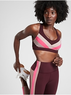 Crunch Colorblock Bra in SuperSonic