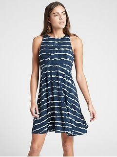 Santorini Thera Printed Dress
