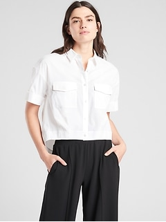 Utility Crop Button Up