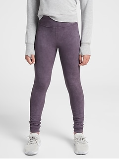 Athleta Girl Snow Dye High Rise Powervita Chit Chat Tight