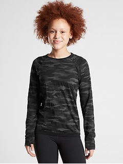 Athleta Girl Printed Power Up Top