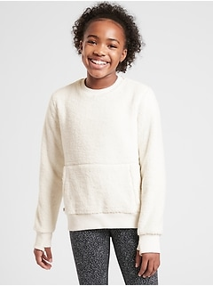 Athleta Girl So Snug Sherpa Crewneck Sweatshirt