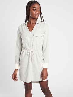 Zuma Printed Shirtdress