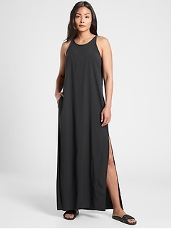 Hayes Pleated Maxi Dress