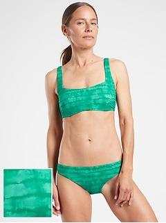 Bra Cup Square Neck Printed Bikini Top